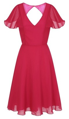 Dorothy Perkins Womens Chi Chi London Ruffle Sleeve Midi Dress