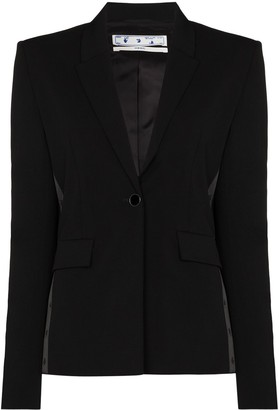 Off-White Single-Breasted Blazer Jacket