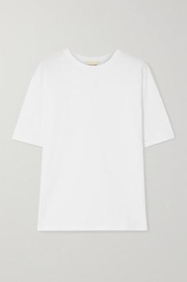 LOULOU STUDIO Lipari Cotton-jersey T-shirt - White