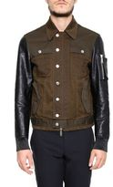 DSQUARED2 Cotton And Leather Jacket