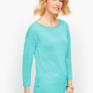 Talbots Linen Side Button Sweater