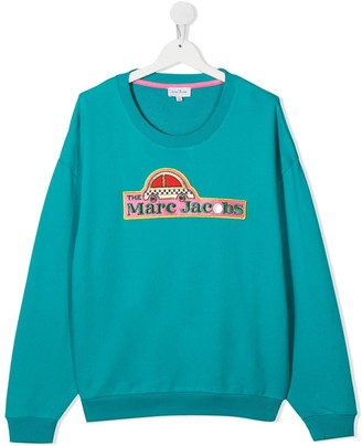 Little Marc Jacobs Embroidered Logo Sweater
