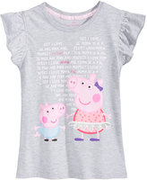 Nickelodeon Nickelodeon's Peppa Pig Flutter-Sleeve T-Shirt, Toddler and Little Girls (2T-6X)