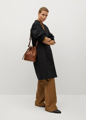MANGO Cotton-blend wrap trench coat