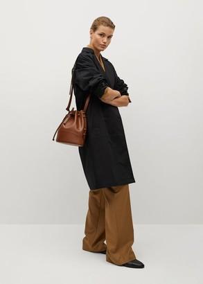 MANGO Wrap cotton-blend trench coat