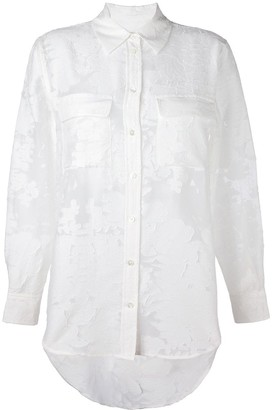 Equipment semi sheer jacquard shirt