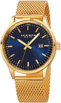 Akribos XXIV Omni Mens Gold-Tone Bracelet Watch