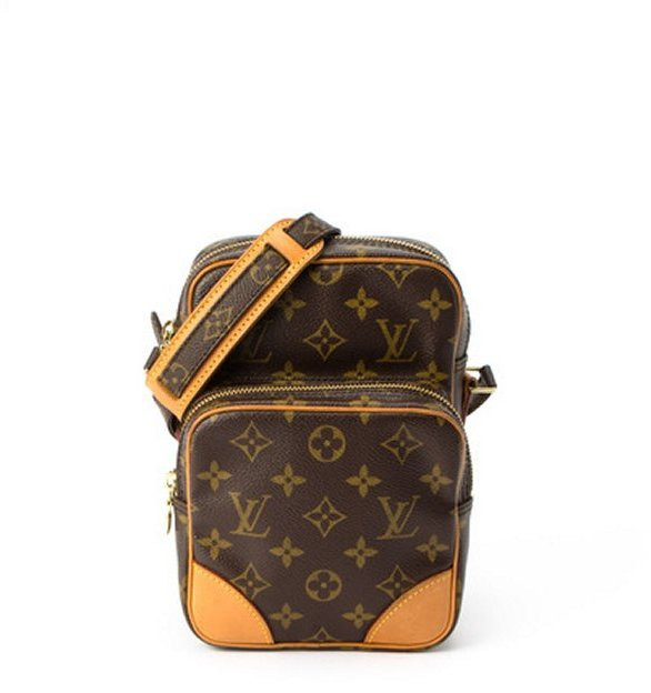 Louis Vuitton brown monogram canvas 'Amazon' vintage mini bag