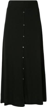 James Perse Ribbed Knit Midi Skirt