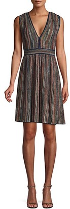 Saks Fifth Avenue Sleeveless Lurex Fit--Flare Dress