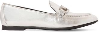 Salvatore Ferragamo 10mm Trifoglio Metallic Leather Loafers