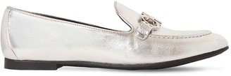Salvatore Ferragamo 10MM TRIFOGLIO METALLIC LEATHER LOAFERS