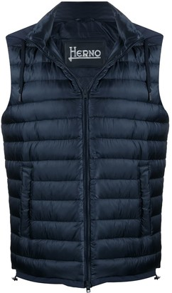 Herno Hooded Quilted-Down Gilet