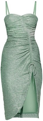 Jonathan Simkhai Roxanne Ruched Plisse Dress