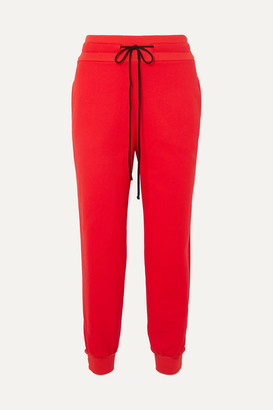 The Range Stretch-terry Track Pants - Red