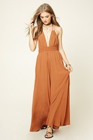 Forever 21 FOREVER 21+ Contemporary Smocked Halter Maxi Dress
