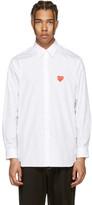 Comme des Garcons White Heart Patch Shirt