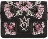 Alexander McQueen Insignia Mini Silk Satin Chain Clutch