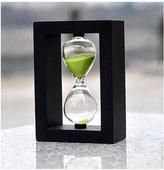 Love Home loveUshop Wooden Frame 30 Minutes Hourglass Sand Timer Black Frame
