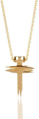 Kasun Nail & Cross Gold Pendant