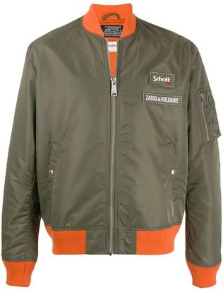 Zadig & Voltaire x Schott contrast trim bomber jacket