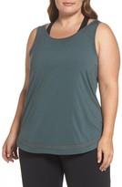 Zella Plus Size Women's Kayla Mesh Inset Tank