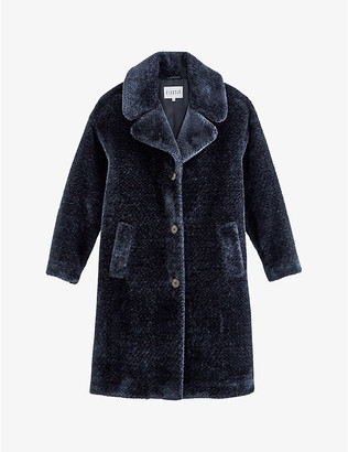 Claudie Pierlot Fedora faux-fur coat