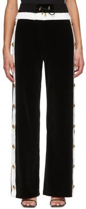 Balmain Black Velour Vented Lounge Pants