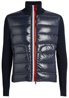 Moncler Quilted Zip-Up Cardigan