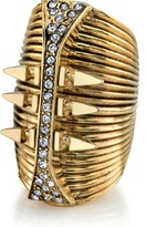 Belle Noel Long Finger Ring in Yellow Gold