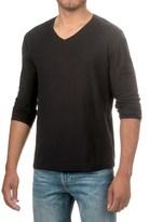 Michael Stars Cotton Slub T-Shirt - V-Neck, Long Sleeve (For Men)