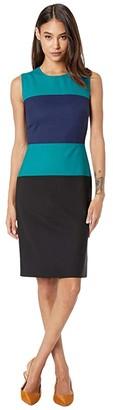 Paul Smith PS Color-Block Sheath Dress (Navy) Women's Clothing