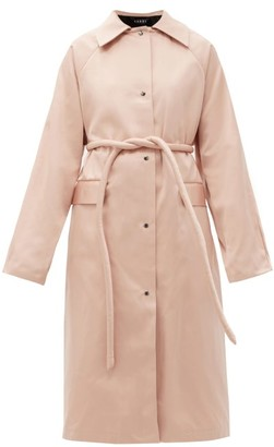 Kassl Editions Original Belted Satin Trench Coat - Light Pink