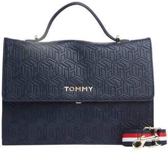 Tommy Hilfiger Embossed Monogram Satchel