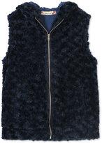 Speechless Girls' Faux-Fur Vest, Big Girls (7-16)