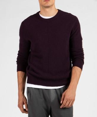Atm Cashmere Exposed Seam Crew Neck Sweater - Dark Maroon