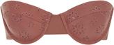 Tori Praver Zola Embroidered Eyelet Strapless Bikini Top