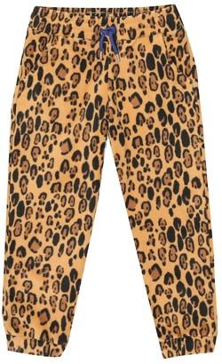 Mini Rodini Leopard-print fleece pants