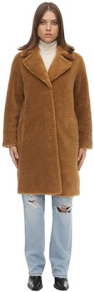 Stand Camille Cocoon Teddy Faux Fur Midi Coat