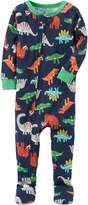 Carter's Boys'-5T One Piece Multi Dinosaur Print Cotton Pajamas