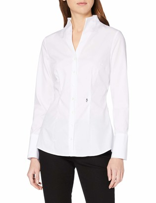 Seidensticker Women's CITY-BLUSE 1/1-LANG Slim Fit Long Sleeve Blouse
