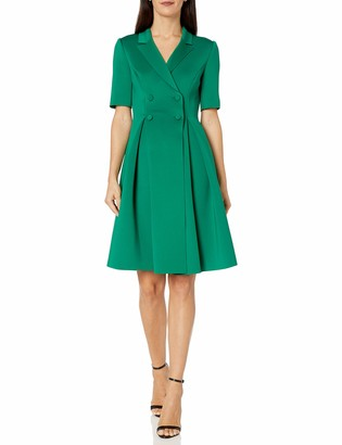 Badgley Mischka Women's Short Sleeve Scuba Dress