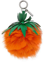Fendi Orange Fur Pineapple Keychain