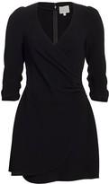 Cinq à Sept Theo Faux-Wrap Crepe Mini Dress