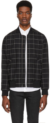 Paul Smith Black Wool Bomber Jacket