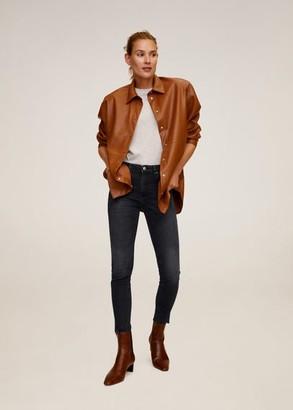 MANGO Crop skinny Isa jeans open grey - 1 - Women