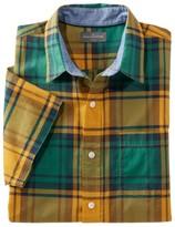 L.L. Bean L.L.Bean Men's Signature Madras Shirt, Short-Sleeve, Plaid