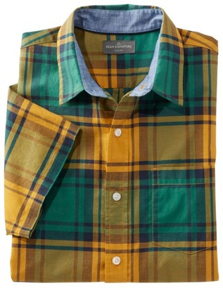L.L. Bean Men's Signature Madras Shirt, Short-Sleeve, Plaid