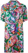 Kenzo Paisley Pattern shirt dress