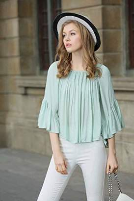 UP Ultrapink Junior's and Women's Butterfly Body Blouse Extended Ruffle Oversize Fit
